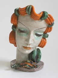 Goldscheider-Art-Deco-Rudolf-Knörlein-Sculture-Woman's-Head-1